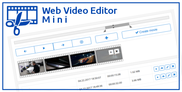 Web Video Editor Mini v1.2.1 - простой видео редактор